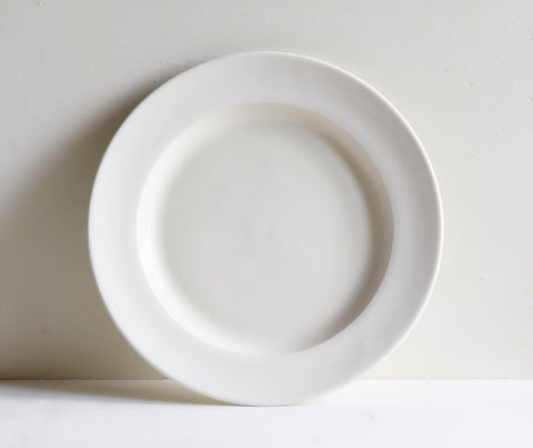 Pure Porcelain Tableware Set with Unglazed Border