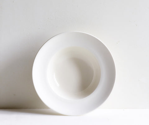 Classical Porcelain, Unglazed Border: Deep Bowl, 22cm