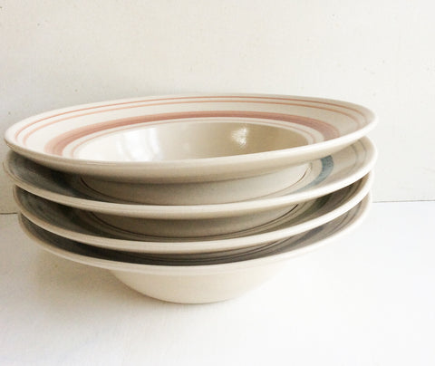 Linen Stripe Jewel Colour Tableware Sets