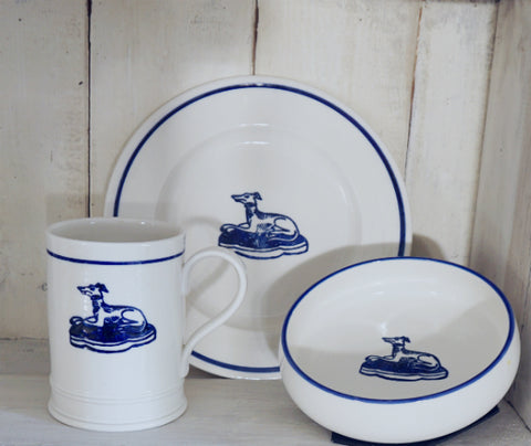 Breakfast set with Hound design by Liz Hodges