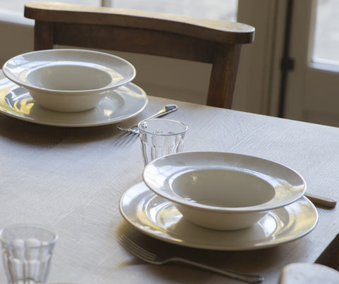 Classic White Porcelain Handmade Tableware - Seconds