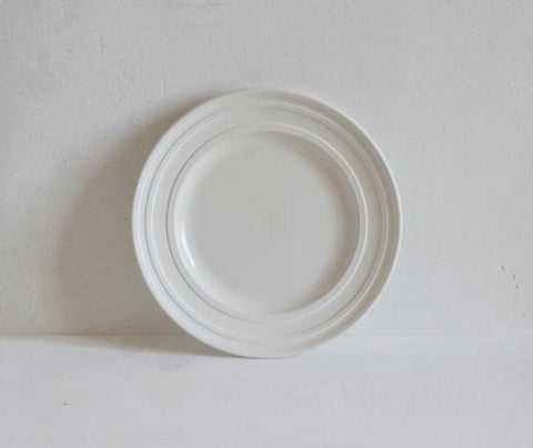 Porcelain Impressed Line Side Plate, 21cm
