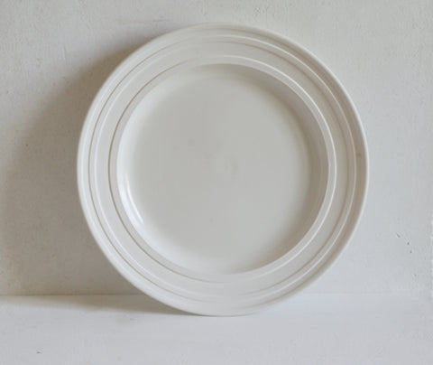 Porcelain Impressed Line Dinner Plate 27cm