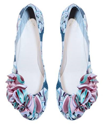 Multi colour ballet flats