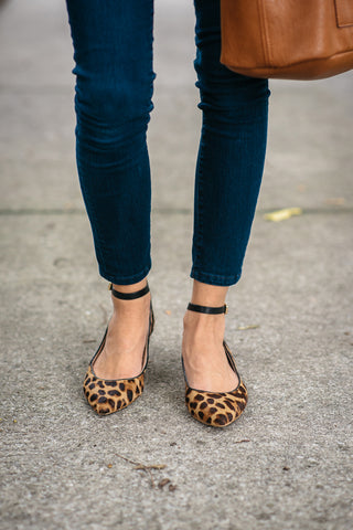 Animal print ballet flats ballerinas shoes for women
