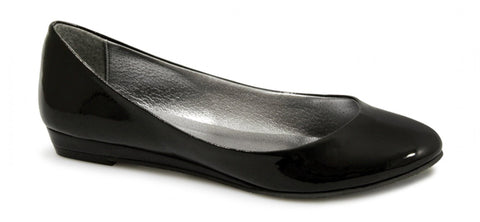 Black ballet flats ballerina shoes
