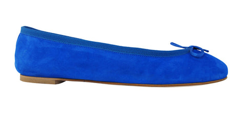 Blue ballet flats ballereinas shoes