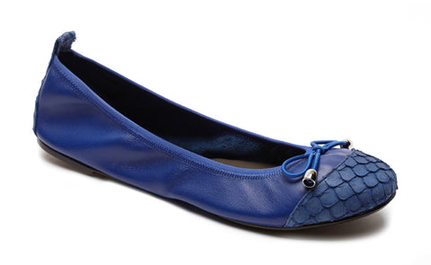 Blue ballet flats ballerina shoes