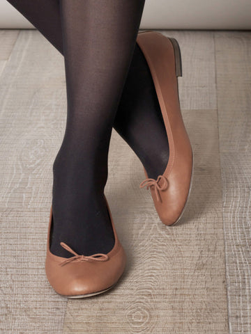 brown ballerina shoes for women