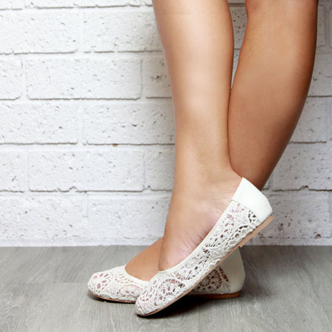 Fabric ballet flats shoes