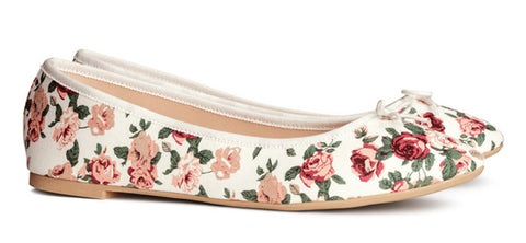 Flower ballet flats ballerina shoes