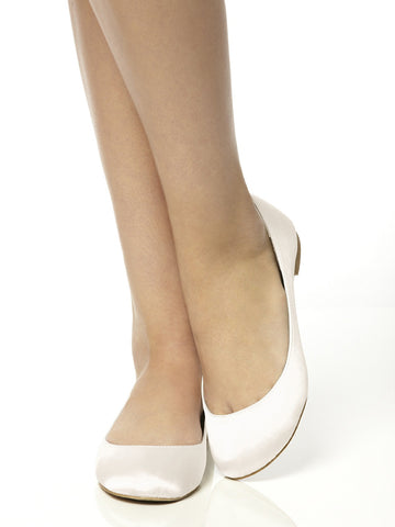 Ivory ballet flats ballerinas shoes