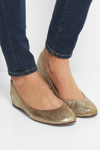 Metallic Ballet Flats & Ballerina Shoes