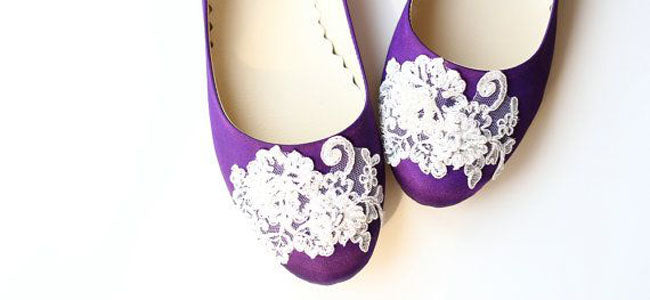 Purple ballet flats ballerina shoes