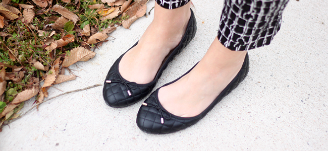 Quilted Ballet Flats & Ballerina Shoes