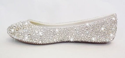 Swarovski crystal ballet flats for women