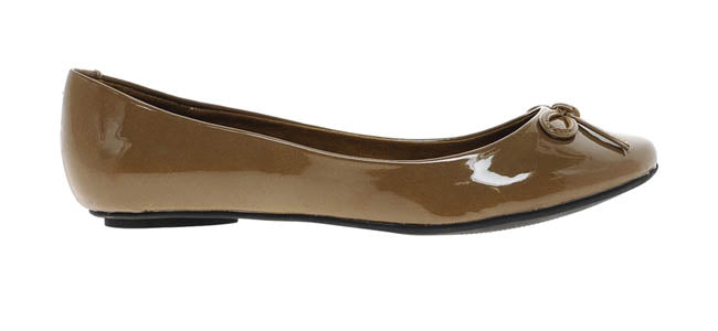 Taupe ballet flats shoes