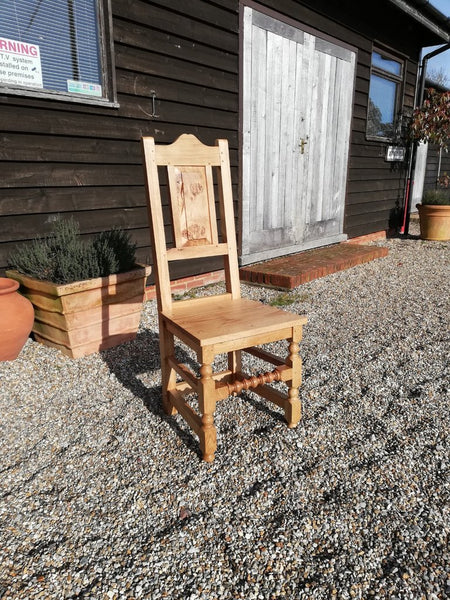 17th Century handmade oak side chair wooden seat