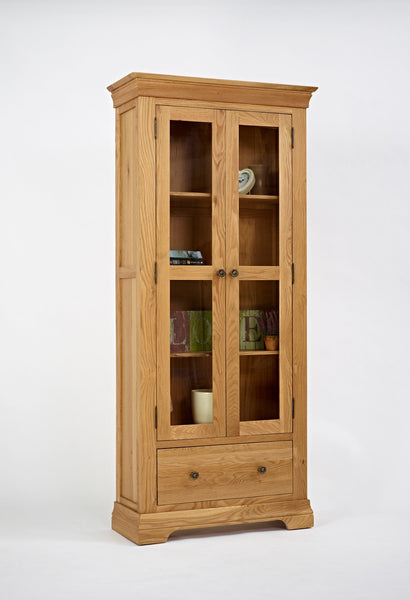 Glazed Oak display Cabinet