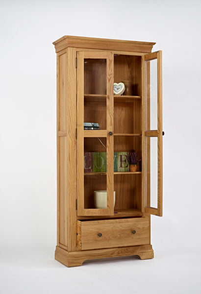 Manoir - Glazed Oak Display Cabinet
