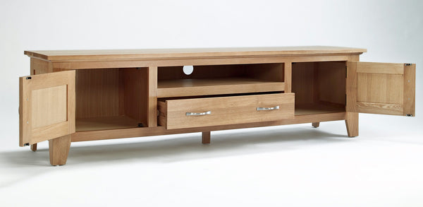 Staplecross - Oak Widescreen TV Cabinet