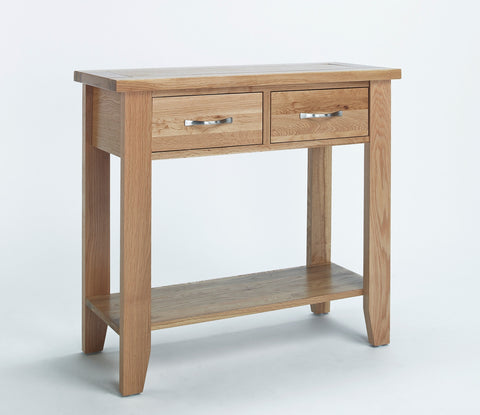 Oak Small Console Table