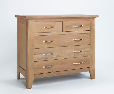 2 Over 3 Chest Of Drawers Oak