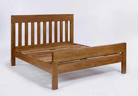 Rustic King Size Oak Bed