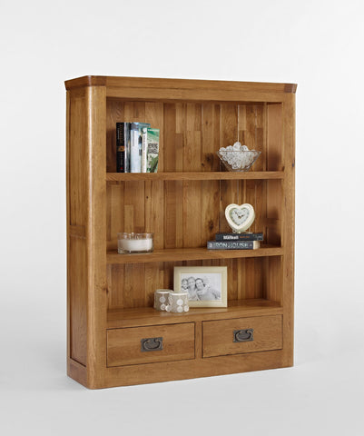 Small Oak Bookcase with drawers