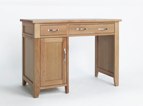 Single Pedestal Oak Desk
