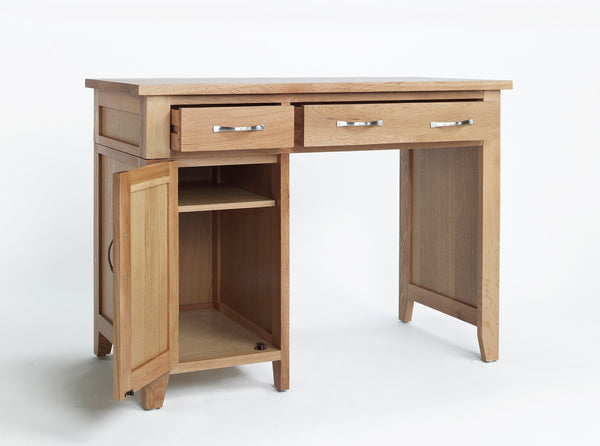 Staplecross - Oak Single Pedestal Desk