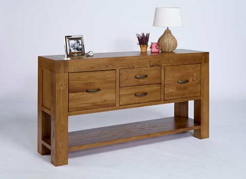 Large Oak Console Table