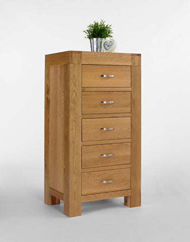 Oak Wellington Chest Of Drawers