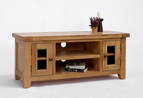 Large Oak TV Cabinet