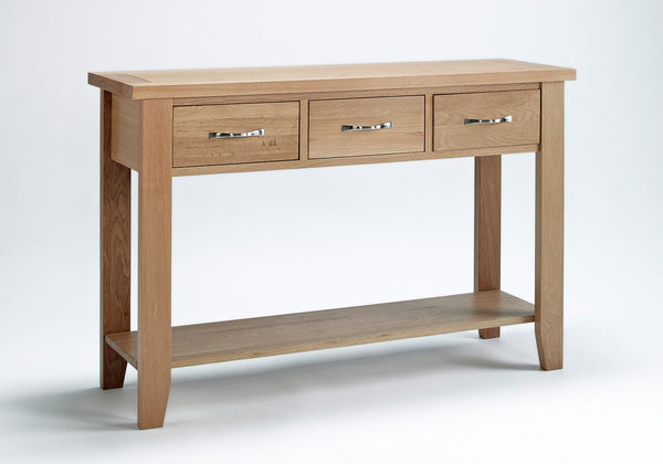 Staplecross - Large Oak Console Table