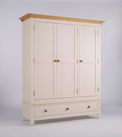 Painted Pine And Ash - Triple Wardrobe