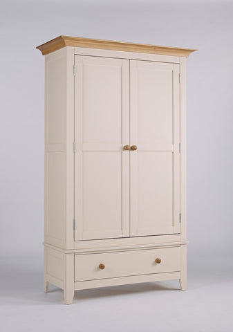 Painted Pine And Ash - Double Wardrobe