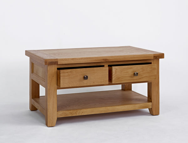 Dallington - Oak Coffee Table With Drawers