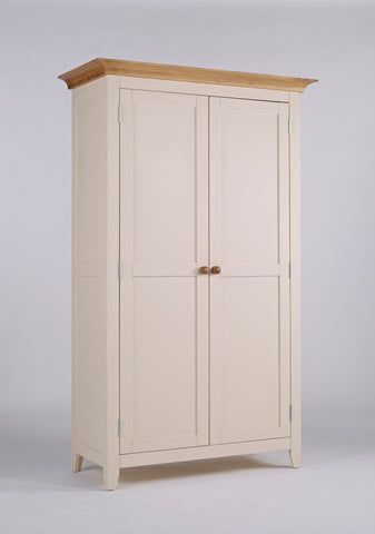 Painted Pine And Ash - Double Wardrobe Full Hanging