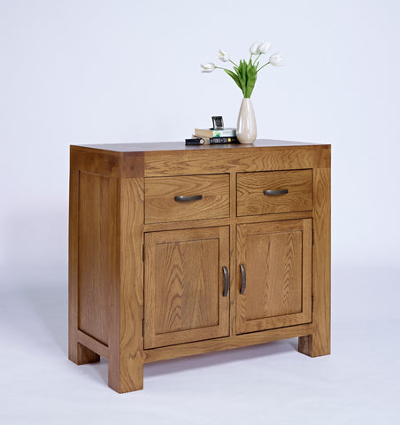Small rustic oak sideboard