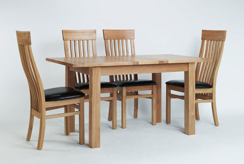 Centrally Extending Dining Table