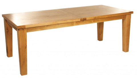 Large extending oak dining table