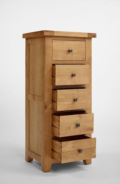 Dallington - Oak Wellington Chest Of Drawers