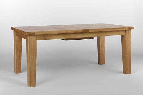 Centrally Extending Oak Dining Table Large