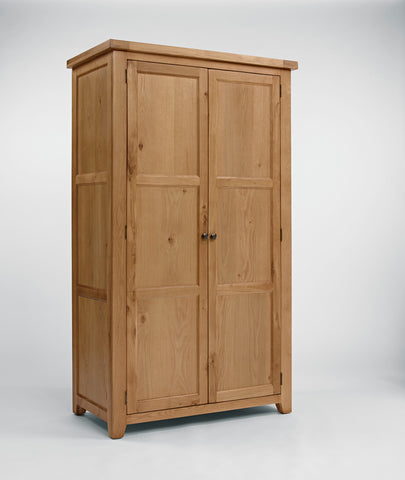 Full Hanging Oak Wardrobe