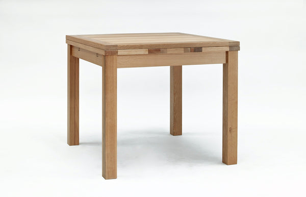 Small extending oak table