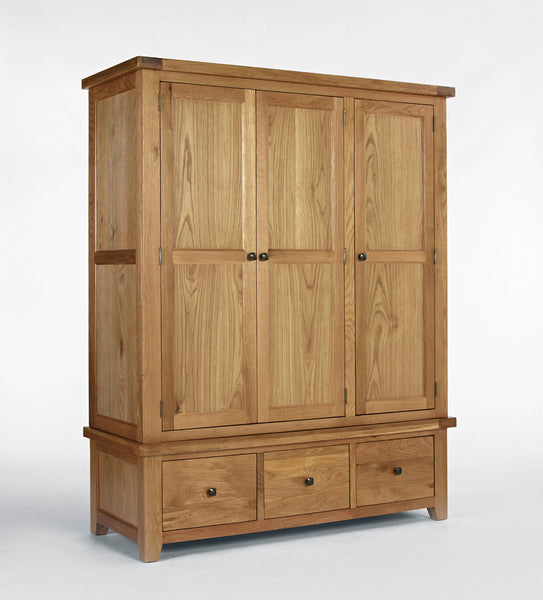 Triple Oak Wardrobe