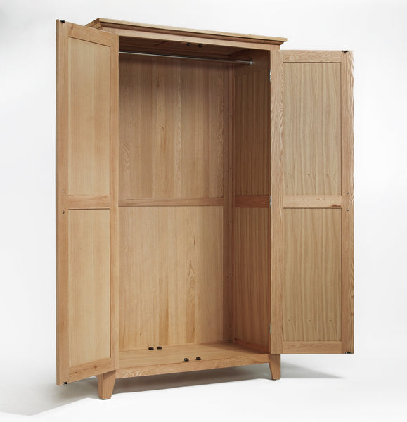 Staplecross - Oak Full Hanging Double Wardrobe