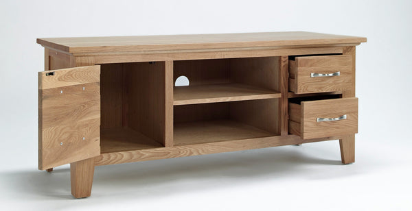 Oak TV Cabinet with doors and drawers