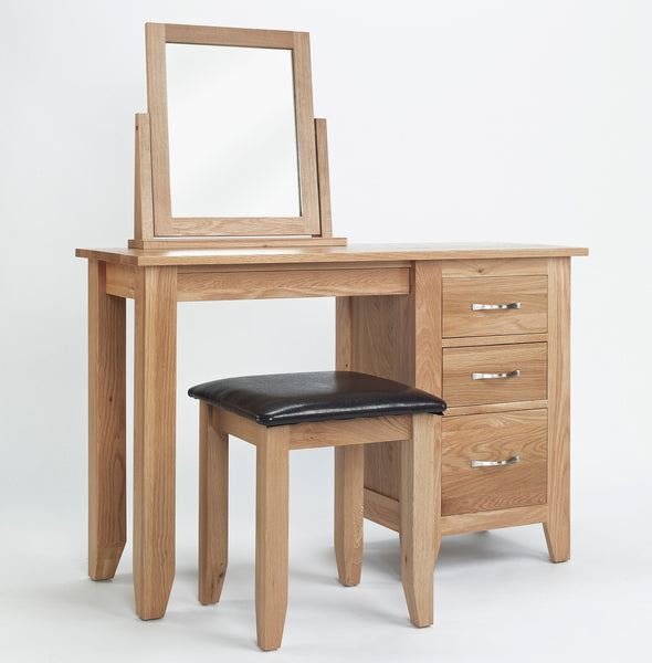 Oak Swivel dressing table mirror